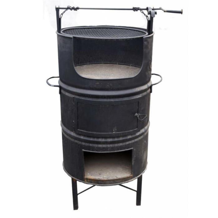 Como hacer un horno parrilla con un tambor de aceite for Como construir un horno
