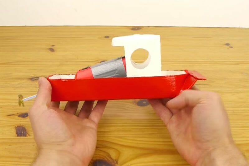 Como hacer un barco autopropulsado con un tetrabrick