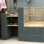 como hacer una parrilla con ladrillos o bloques de concreto
