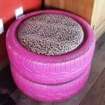 Como hacer un sillón pouf con neumáticos o ruedas ?