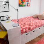 ¿Cómo hago una cama modular con cajoneras para niños?