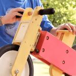 Como hago una bicicleta de madera para niños