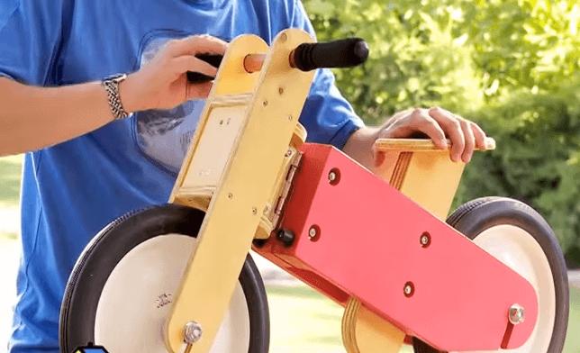 como hago una bicicleta de madera