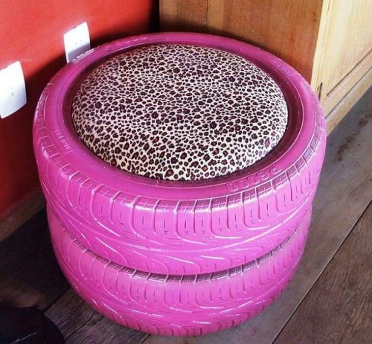 Como hacer un sillón pouf con neumáticos