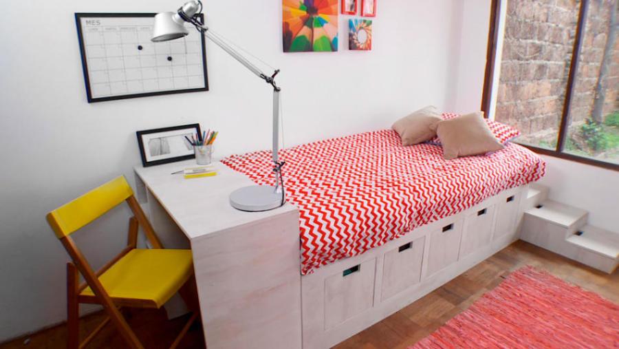cama modular con cajonera para niños