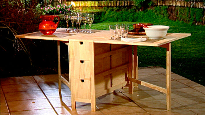 Como hacer una mesa plegable de madera