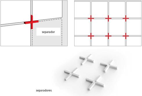 Cruces de separación entre cerámicos
